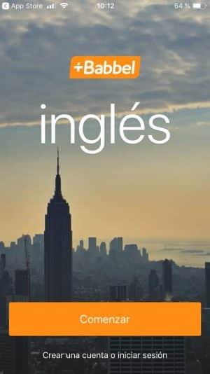 Aplicación de Babbel Inglés