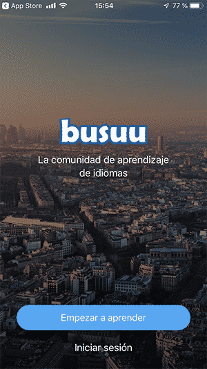 Aplicación de Busuu