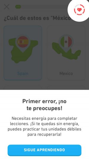 Respuesta incorrecta en Duolingo