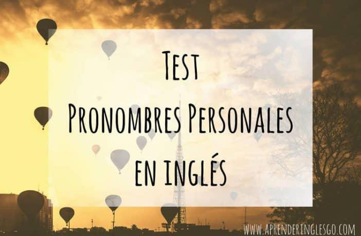 test pronombres personales en inglés