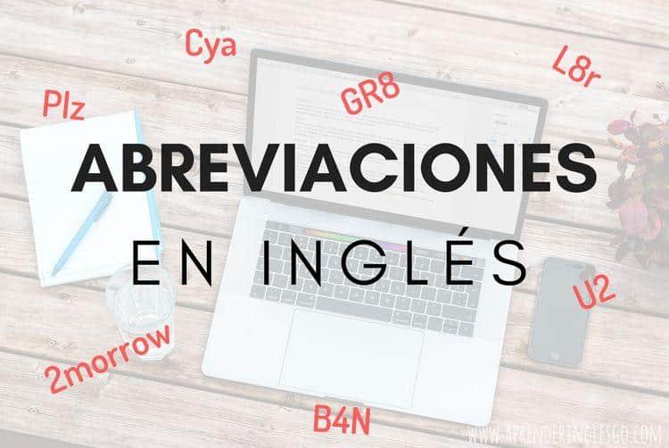 abreviaciones en inglés