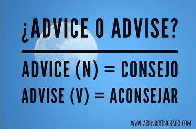 advice y advise