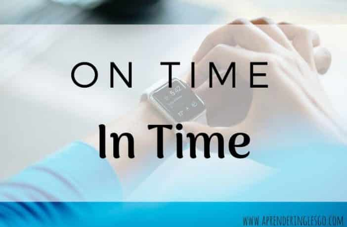 on time e in time