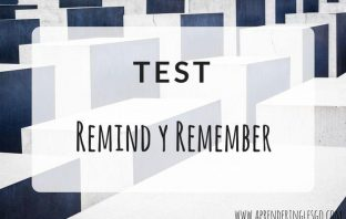 Test REMIND y REMEMBER - Ejercicios para practicar