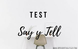 test say y tell - ejercicios para practicar