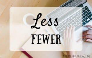LESS y FEWER - ¿Cuál es la diferencia?