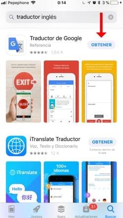 descargar traductor inglés para iOS 2