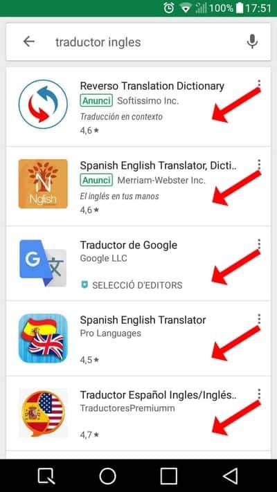 descargar traductor inglés para android 3