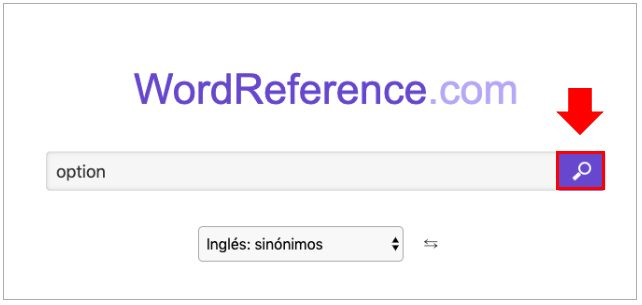 Sinónimos en inglés